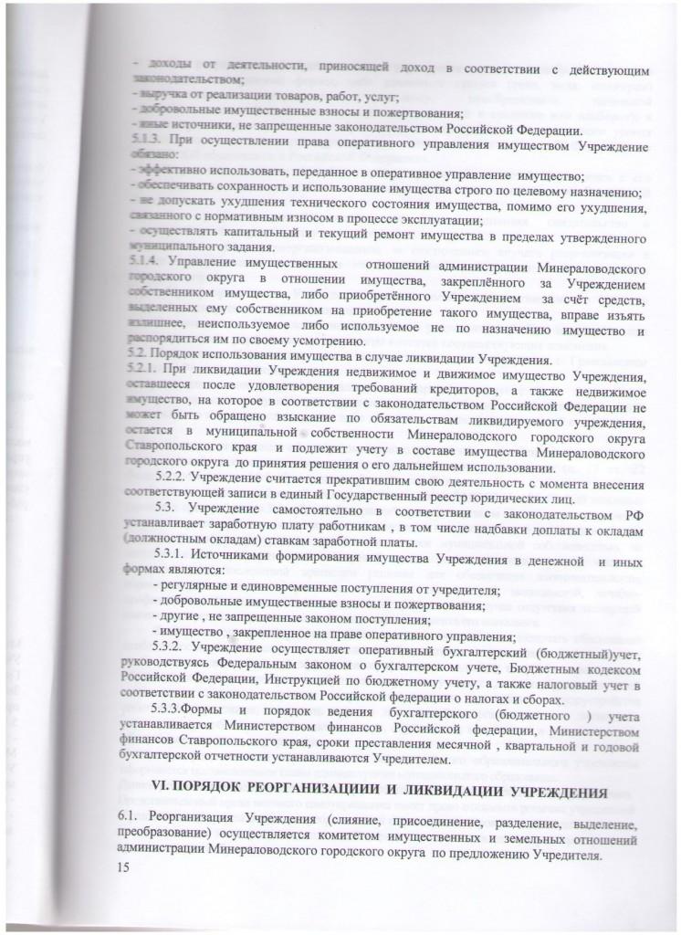 устав 15 стр.