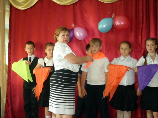 Торжественный приём в детскую организацию «Радуга»