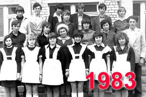 Выпускники школы Перевального 1983 учебный год