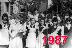 Выпускники школы Перевального 1987 учебный год
