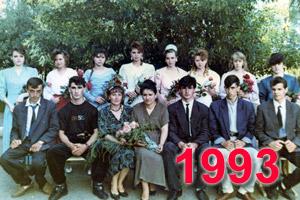 Выпускники школы Перевального 1993 учебный год