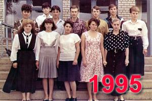 Выпускники школы Перевального 1995 учебный год