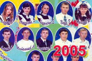 Выпускники школы Перевального 2005 учебный год